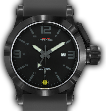 HYPERTEC 44 BLACK - GREY DIAL - GREY RUBBER II- BLACK Buckle