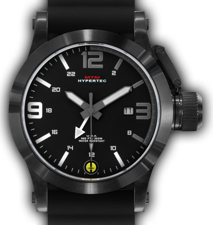 HYPERTEC 44 BLACK - GREY-WHITE DIAL - BLACK RUBBER I- BLACK Buckle