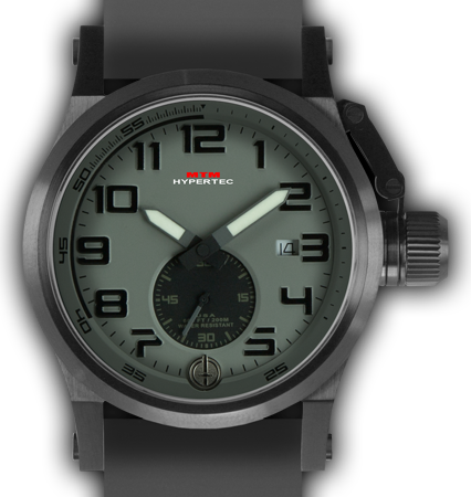 HYPERTEC CHRONO 1A Black Grey Dial - Grey Rubber II - Black Buckle
