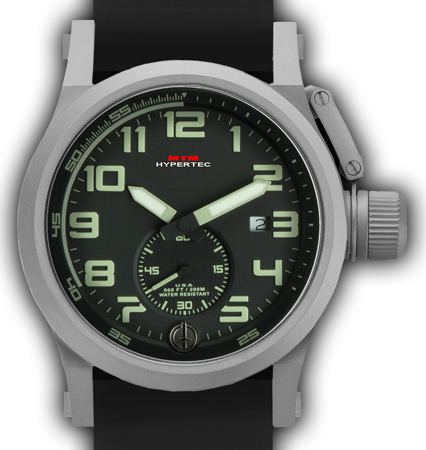 HYPERTEC CHRONO 1A Grey Black - Lumi Dial - Grey Rubber II- Silver Buckle