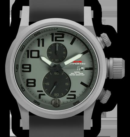 HYPERTEC CHRONO 2A Grey Grey Dial - Grey Rubber II- Silver Buckle