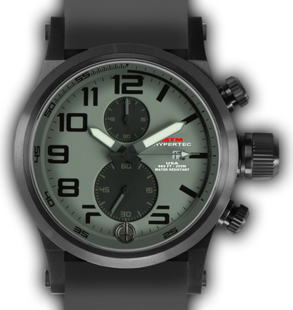 HYPERTEC CHRONO 2A Black Grey Dial - Grey Rubber II - Black Buckle