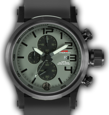 HYPERTEC CHRONO 3A Black Grey Dial - Grey Rubber II - Black Buckle