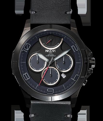 Oconus  Black - Blue II Dial - OC Leather Black - Black Buckle