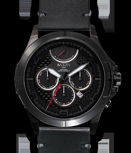 Oconus Black - Black II Dial - OC Leather Black - Black Buckle