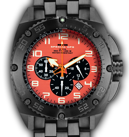 Patriot Black Tit Orange Dial - Tit Band