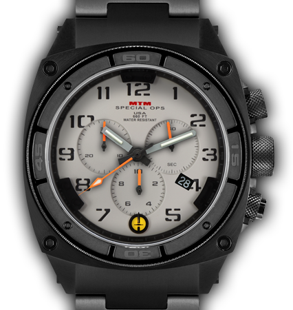 Predator II Black Tit Tan Dial Tan Sub Dial Grey Number - Tit Band-Orange Hand