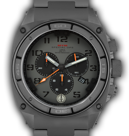 Predator II Grey Tit Grey Dial Black Sub Dial Black Number - Tit Band-Orange Hand