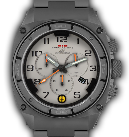 Predator II Grey Tit Tan Dial Tan Sub Dial Grey Number - Tit Band-Orange Hand