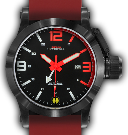 HYPERTEC 44 BLACK - RED DIAL - RED RUBBER II- BLACK Buckle