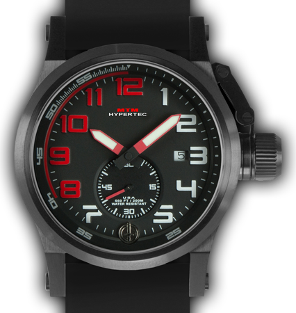 HYPERTEC CHRONO 1A Black Red Dial - Black Rubber II - Black Buckle