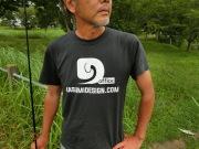 霞DオリジナルロゴTシャツ3  墨ブラック