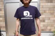 霞DダブルプリントTシャツ ネイビー