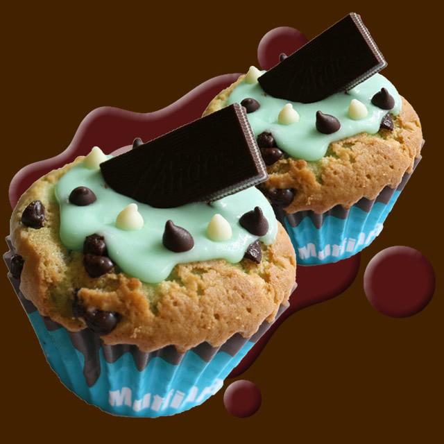 100%チョコミントラブマフィン2個