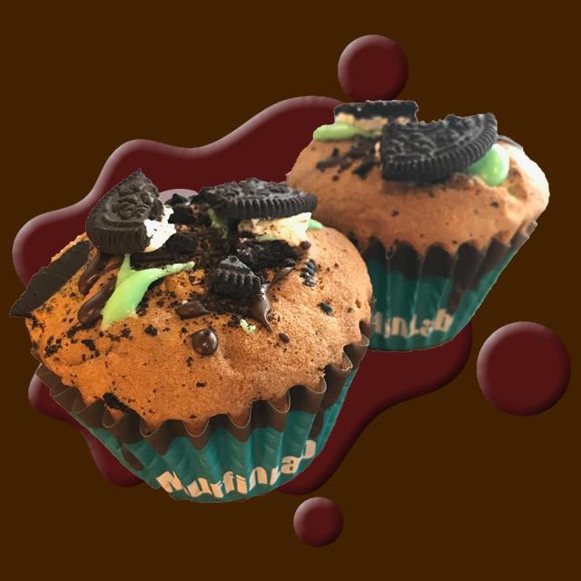 クッキー&ミントチョコマフィン2個