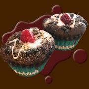 ラズベリー&チョコケーキマフィン2個