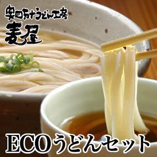 エコなうどんセット四万十のおいしいうどん(かけ・釜揚げつゆ付き)8食入り【冷凍うどん】