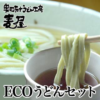 エコなうどんセット四万十のおいしいうどんと青のりうどん(かけ・釜揚げつゆ付き)8食入り【冷凍うどん】