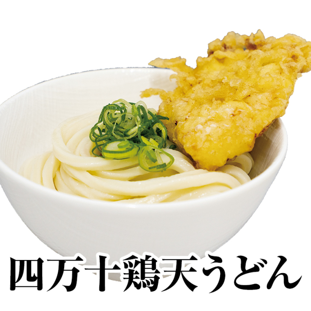 四万十鶏天うどん(セット)