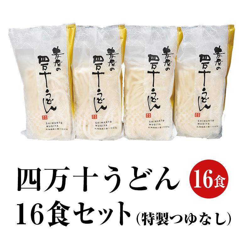 【麦屋シリーズ】四万十うどん 16食セット(特製つゆなし)【冷凍】【送料込】【MOG-16】