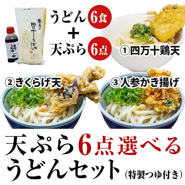 天ぷらうどん6点セット商品画像