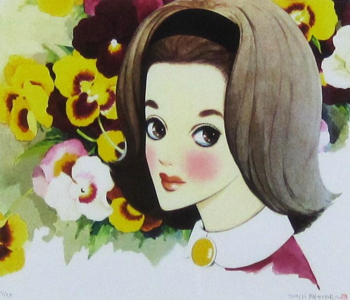 中原淳一  「ジュニアそれいゆ」表紙  昭和26年8月号  ジクリー  外寸・565×510mm