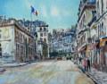 ヨーロッパ風景画・キャンビエ「エリゼ宮」リトグラフ・外寸464×524mm