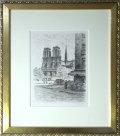 パリ風景画・チャペル「ノートルダム寺院」エッチング415×365mm