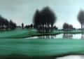 ヨーロッパ風景画・ デペルト「ゴルフ場」リトグラフ・940mm×1190mm