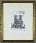 パリ風景画・ケリー「ノートルダム」エッチング400×334mm