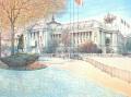 ヨーロッパ風景画・ラフルスキー「グラン・パレ」リトグラフ・外寸705×895mm