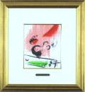 シャガール「緑色のエッフェル塔」1957年リトグラフ・額寸483×443mm