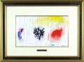 シャガール「赤い鳥」1957年リトグラフ・額寸610×456mm