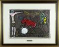 シャガール「赤いロバとキリスト」1950年リトグラフ・額寸600×760mm