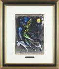 シャガール「天使」1960年リトグラフ・額寸545×460mm