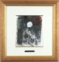 シャガール「茶色い静物」1957年リトグラフ・額寸455×430mm