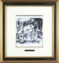 シャガール「村」1957年リトグラフ・額寸460×426mm