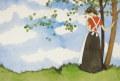 中原淳一  「無題」 昭和46年 「女の部屋」挿絵 ・ ジクリー  外寸・ 790×600mm