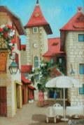 ヨーロッパ風景・志村好子 「アヌシー」 油彩 F3