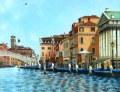 ヨーロッパ風景・志村好子 「VENEZIA」 油彩 F6 :外寸556×465mm