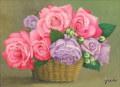 花・志村好子「花籠」 F4・油彩画 426×516mm