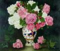 花の絵・志村好子「薔薇」油彩F1 外寸750×675mm