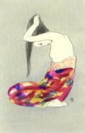 竹久夢二  「」湯あみ」 木版画  「露地のほそみち」 大正15年より  外寸・311×361mm