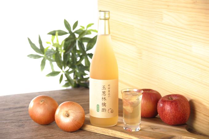 村田食品の玉葱林檎酢 720ml入/約15~20日分/ケルセチン・ペクチン含有/玉ねぎ酢にリンゴをブレンドした無添加、無加糖の野菜酢です/2本以上で送料無料