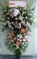 豪華生花をお祝いに!黒スタンド(おまかせ2段)-33 小田原より藤沢まで取扱い