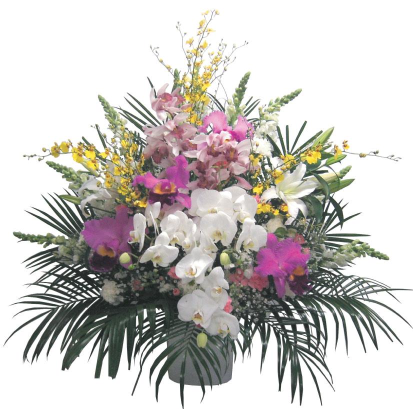 【送料無料】仏スタンド1段洋花(お悔やみ用・葬儀用・葬式用・法事用)