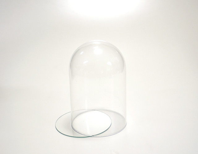 ボトルフラワー用ガラス容器 ハイドームS 白箱付き D-34