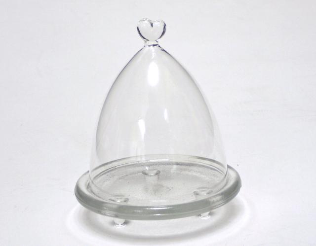 ボトルフラワー容器 プリザーブドフラワー容器 ハートドーム(A-17)