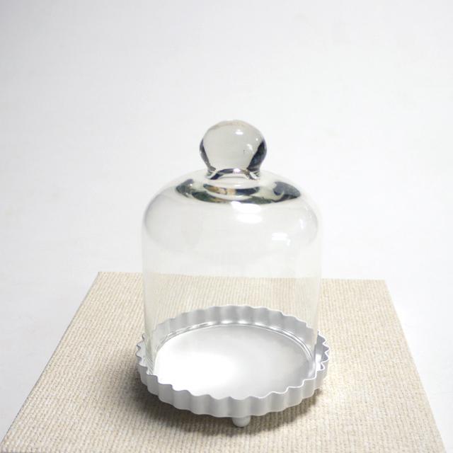 ボトルフラワー容器 ドームグラス(金具皿付)セット