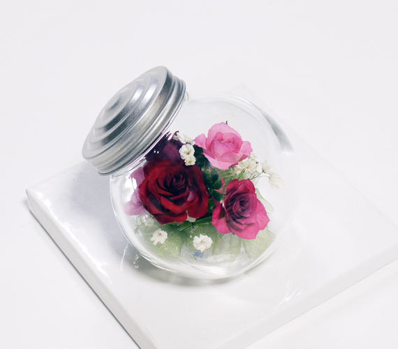 キャンディボトル(バラ) かわいい手作り品 贈り物ギフトA-15